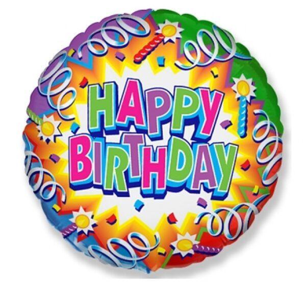 Фольгированный шар HappyBirthday! #401