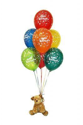7 шариков + мягкая игрушка #625