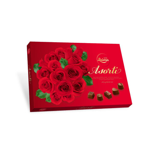 Коробка шоколадных конфет ассорти Laima 470g #418