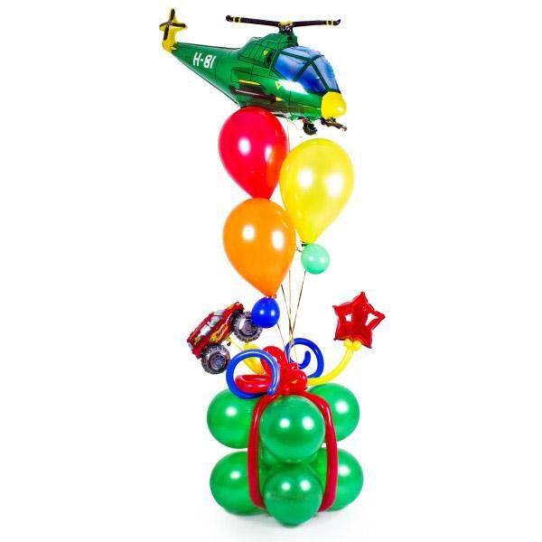 """Букет из шаров """"Вертолет"""" #619"""