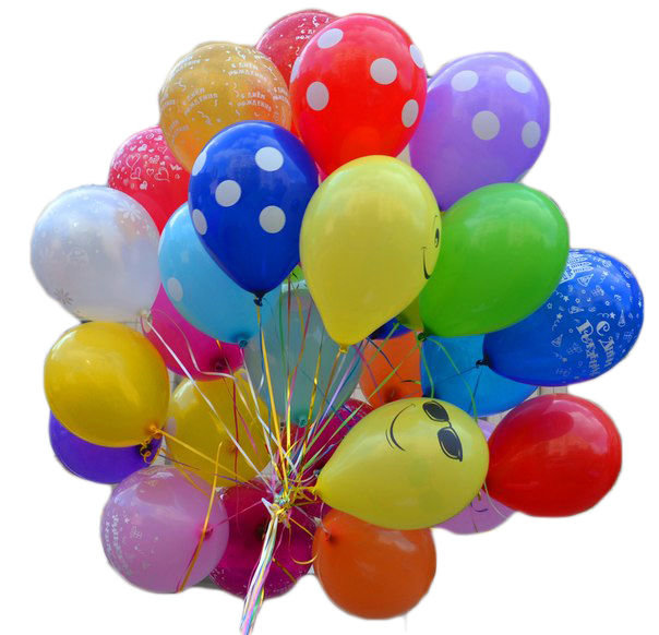 20 шаров с гелием Happy Birthday! #603