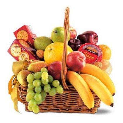 Grozs ar augļiem un saldumiem #702