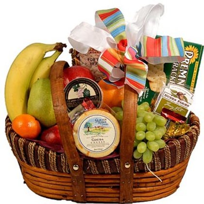 Fruit and Cheese Basket #707